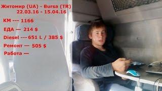 """СКОЛЬКО Я ЗАРАБАТЫВАЮ НА ДАЛЬНОБОЕ """"дальнобой 5708"""" рейс 1 Renault magnum"""