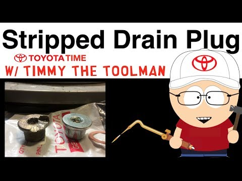 Stripped Differential Drain Plug Removal
