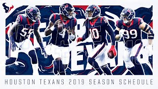 The Houston Texans 2019 Schedule. Pre-Draft prediction. Can the Texans WIN???