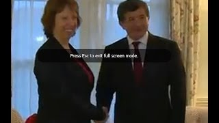 Catherine Ashton Meeting with the Turkish Foreign Minister