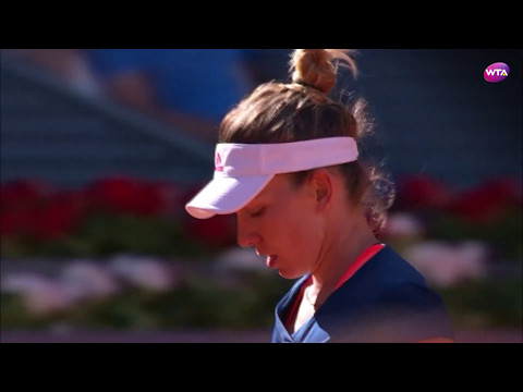 2017 Mutua Madrid Open First Round | Simona Halep v Kristyna Pliskova | WTA Highlights