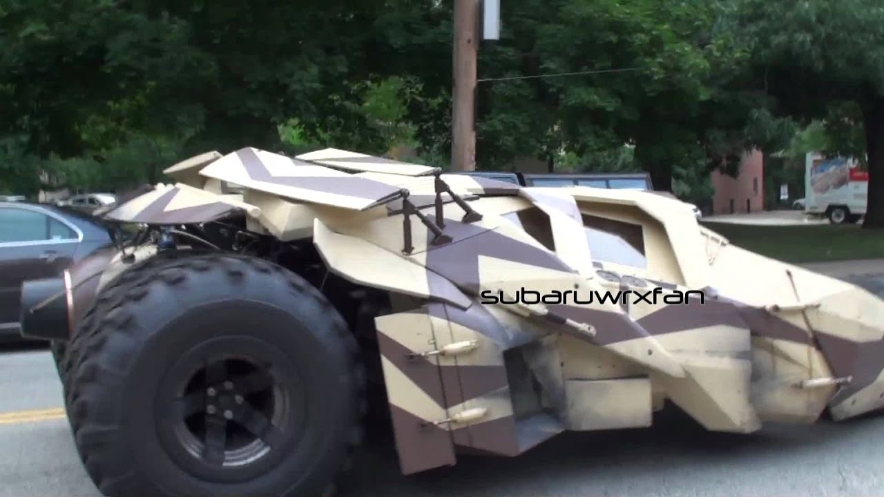 3 Tumblers Batmobile Driving On The Streets Youtube