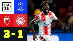 Starke Schlussphase bringt den Sieg: Roter Stern - Olympiakos 3:1 | UEFA Champions League | DAZN