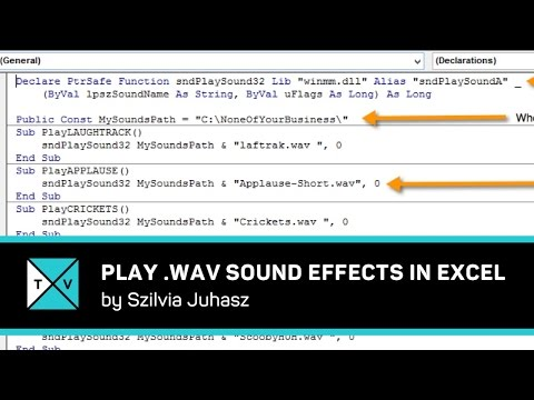 wav Files in Microsoft Excel - Using Sound Effects in