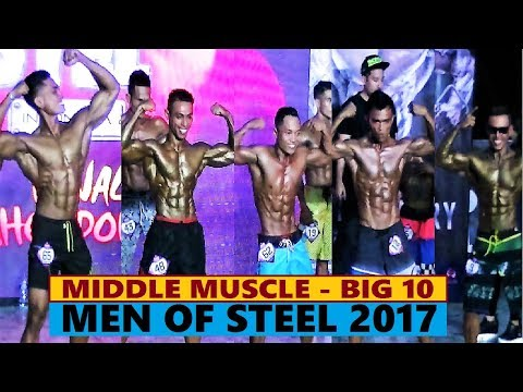Men of Steel 2017 Bay Walk Middle Muscle Big 10 part 02
