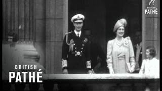 George VI , Queen And Princesses On Palace Balcony (1937)