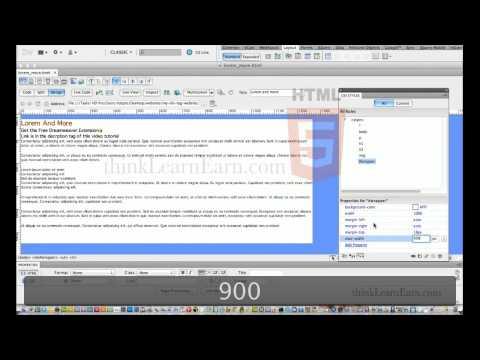 Dreamweaver cs5 tutorials:How build html5 css3 responsive web design from scratch no hand coding