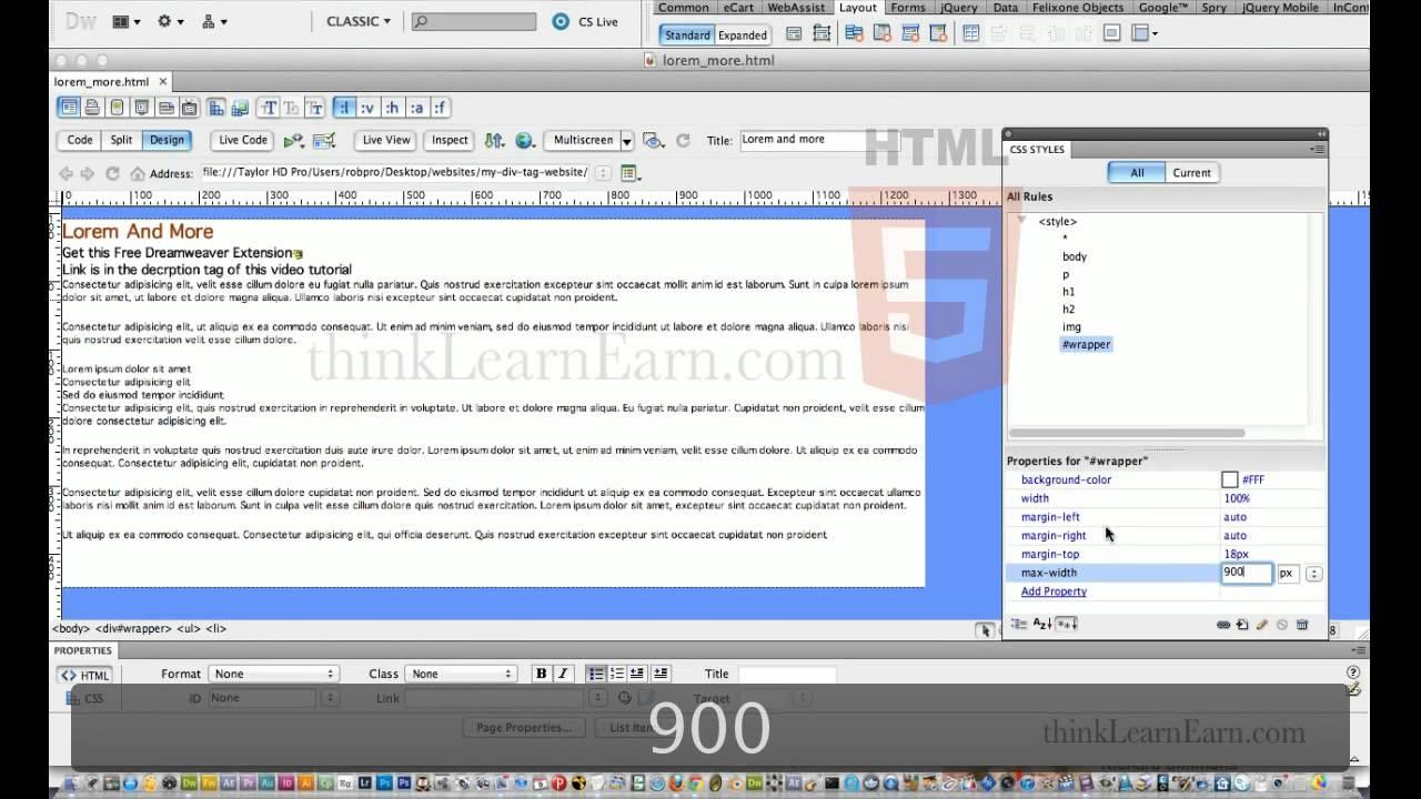 Dreamweaver cs5 tutorials:How build html5 css3 responsive web ...