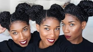 Perky Space Buns | Natural Hairstyle