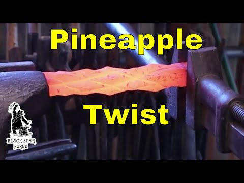 Pinapple Twist - Using The Fly Press - Ornamental Blacksmithing