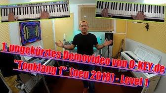 Keyboard lernen für Anfänger mit www.O-KEY.de - 1. freies Lehrvideo Tonklang 1