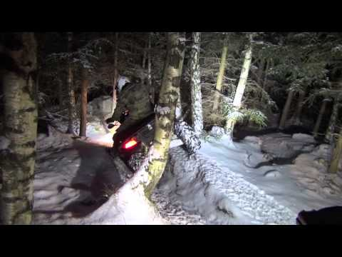 ATV snow crash crossing Winter 2013