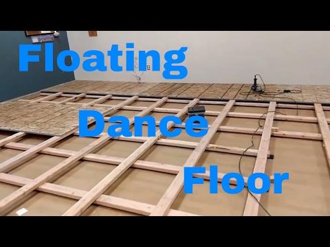 Dance floor DIY. How to build a floating floor.