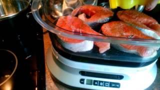 Лосось на пару / Steamed fish