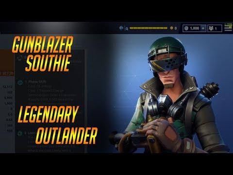 LEGENDARY GUNBLAZER SOUTHIE: Fortnite Legendary Outlander Gameplay
