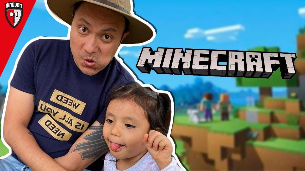 Jugando Minecraft con mi Hija - KG 🛡️