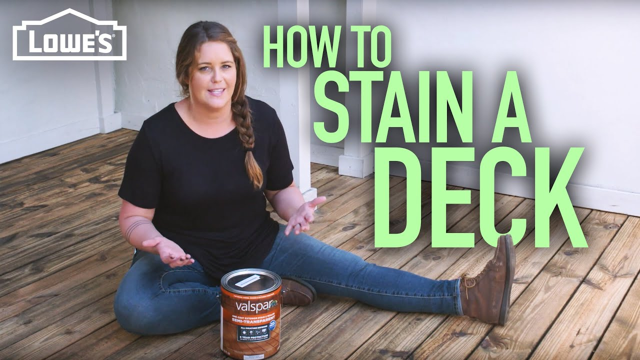 How To Stain A Deck W Monica From The Weekender You
