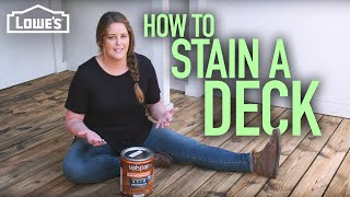 How to Stain a Deck (w/ Monica from The Weekender)