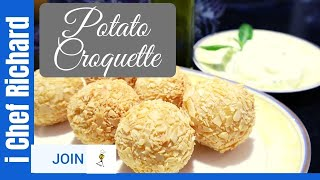 Pommes Berny Potato Recipe With Black Truffle And Almonds - Potato Croquette  i Chef Richard