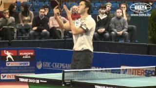 Матч звезд Европы и Азии по настольному теннису