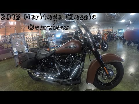 2018 heritage classic overview (114 cubic inch heritage softail)