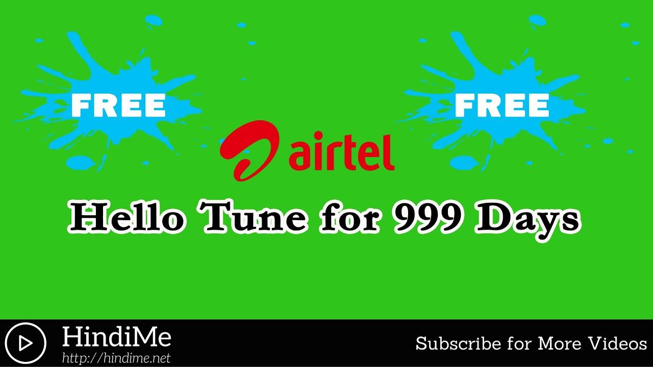 Free Airtel Hello Tune Service 999 Dino Keliye Active Kare
