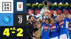 Trotz Katze Buffon! Napoli gewinnt Pokalfinale: Neapel - Juventus 4:2 n.E. | Coppa Italia | DAZN