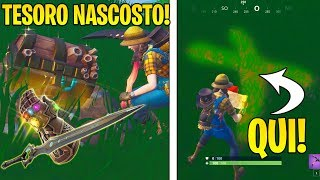 TESORO NASCOSTO! ECCO COME TROVARLO.. MAPPA DEL TESORO AGGIORNAMENTO 8.10 FORTNITE NEWS