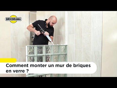 TUTO Monter un mur de briques de verre   BRICORAMA - YouTube