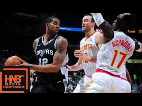 San Antonio Spurs vs Atlanta Hawks Full Game Highlights / Jan 15 / 2017-18 NBA Season