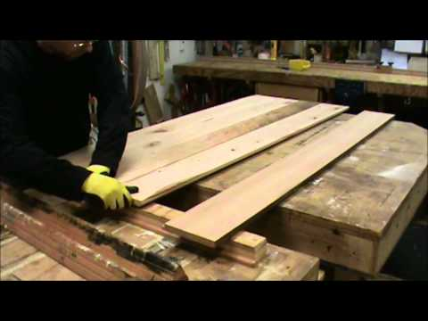 Building A Reclaimed Wood Tabletop YouTube