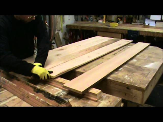building a reclaimed wood tabletop