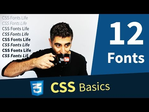 CSS Tutorial — How to use Fonts  (12/13) thumbnail