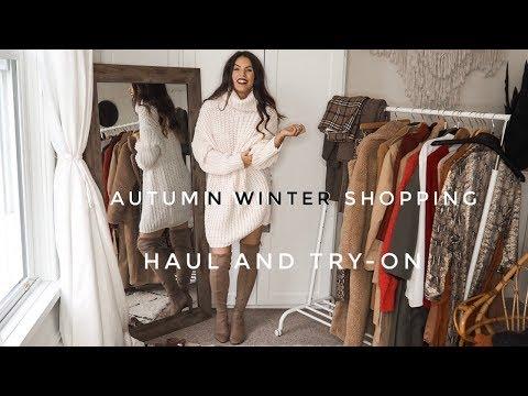 Autumn Winter Shopping Haul Video | Zara, H&M, Very