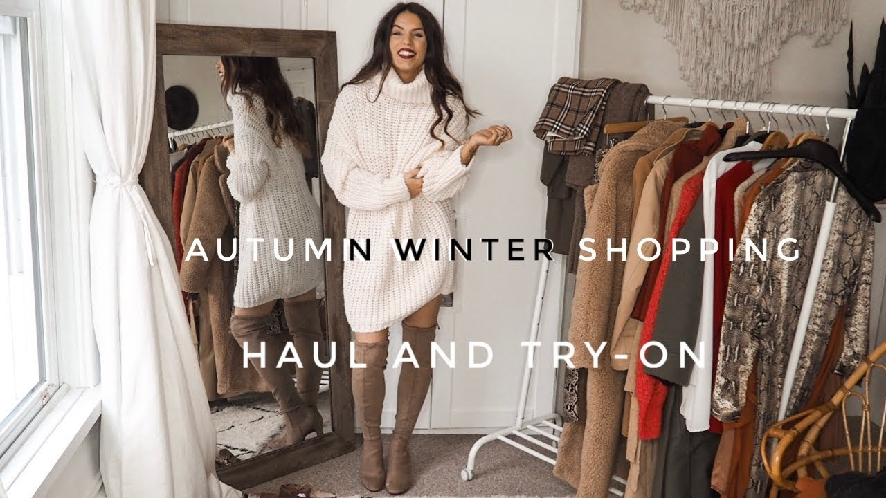 Autumn Winter Shopping Haul Video | Zara, H&M, Very 5