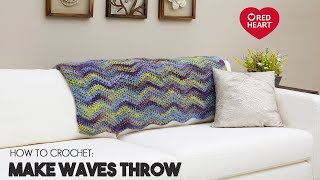Video Crochet Chevron Blanket for Beginners - Make Waves Throw by Red Heart download MP3, 3GP, MP4, WEBM, AVI, FLV Juli 2018