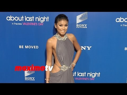 "Eniko Parrish (Kevin Hart's Girlfriend) ""About Last Night"" Los Angeles Premiere Red Carpet"