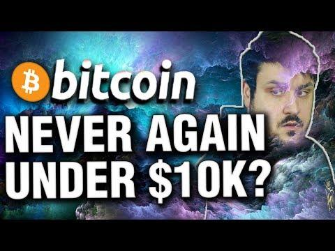 Will Bitcoin Never Go Under $10,000 Again?