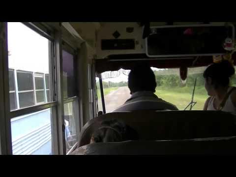 Dangerous Bus Race on the Highway in Belize