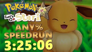 ENFIN UN BON TEMPS SUR LET'S GO EVOLI ! - ANY% SPEEDRUN