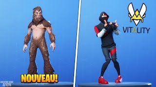 SKIN 'BIGFOOT' - EMOTE 'LIVE THE VICTORY'! FORTNITE BATTLE ROYALE