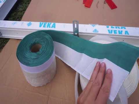 Установка ПВХ окон в каркасный дом с применением паро и ветрозащитной ленты.