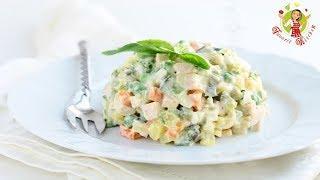 🔵 Салат «Оливье» | салат оливье как приготовить | классический |  с колбасой | рецепт |