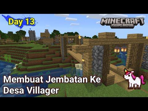 Membuat Perbatasan Desa -- Minecraft Survival Day-13 - 동영상