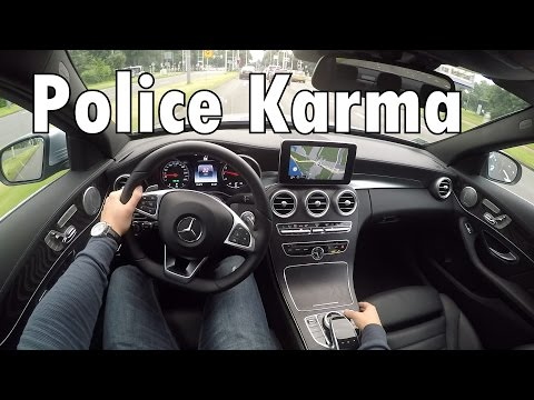 2016-mercedes-benz-police-karma-c-class-c200-amg-politie-driving-review-drive-acceleration-pov-gopro