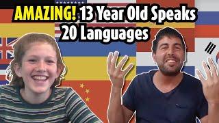AMAZING! 13 year old polyglot speaks 20 languages