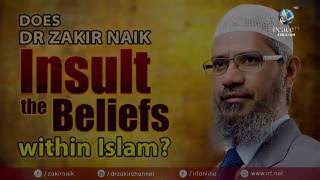 DOES DR ZAKIR NAIK INSULT THE BELIEFS WITHIN ISLAM?
