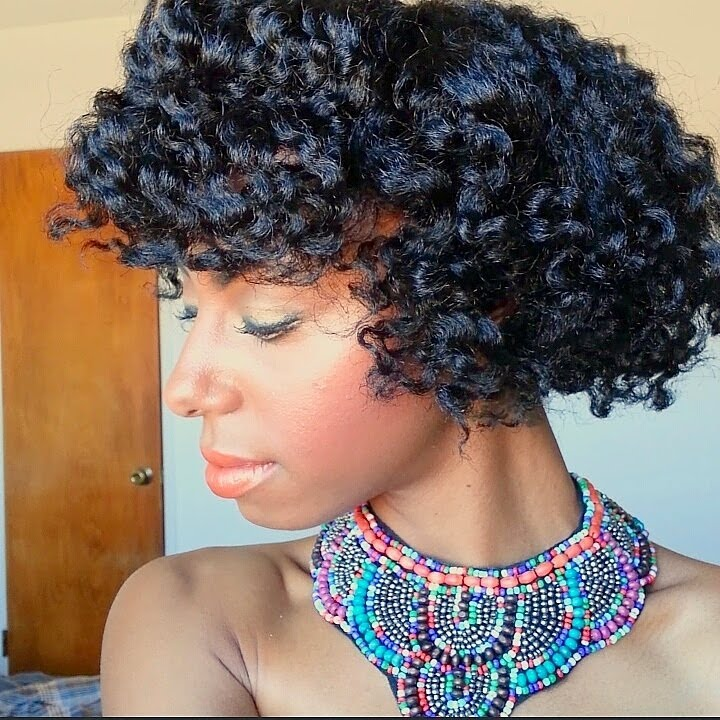 Curly Fro And Bang On 4c Natural Hair Youtube
