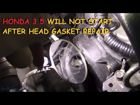 Honda DIY Head Gasket - Vehicle Will Not Start Now