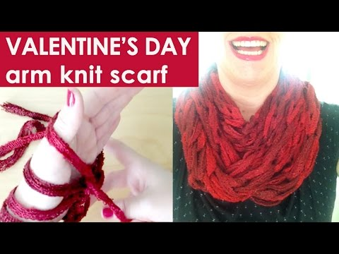 How To Arm Knit An Infinity Scarf